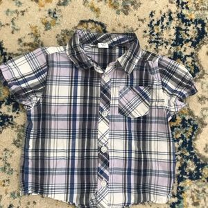 Old Navy 12-18M Plaid button-down shirt